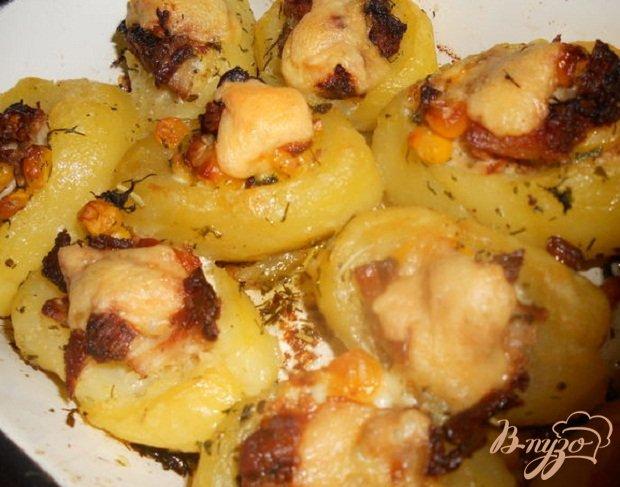 Фото приготовление рецепта: Фаршированный картофель шаг №5