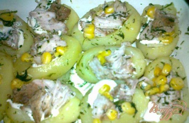 Фото приготовление рецепта: Фаршированный картофель шаг №4