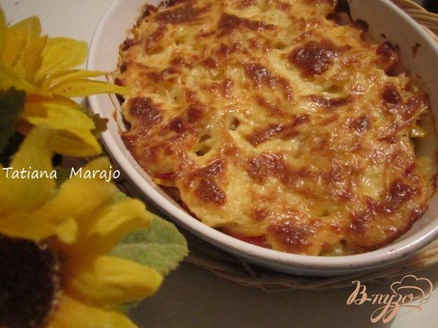 фото рецепта: Овощная запеканка с копчеными колбасками