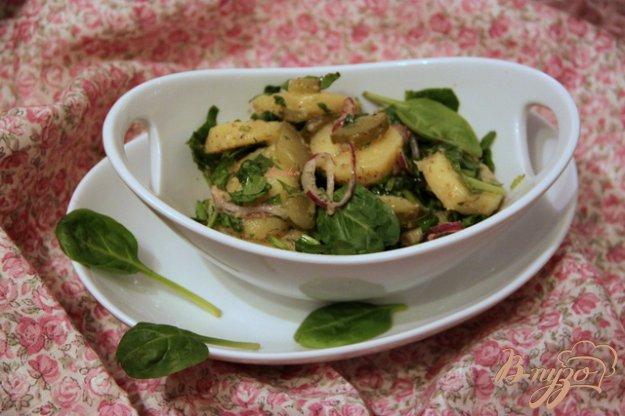 Рецепт Картофельный салат со шпинатом