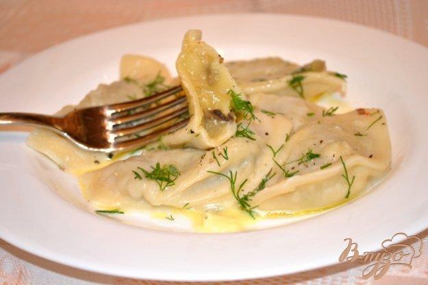 Рецепт Вареники с картофелем и грибами