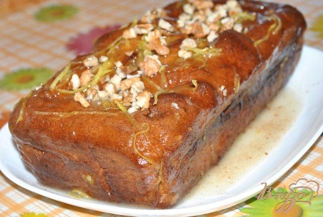 Фото приготовление рецепта: Банановый хлеб с орехами (Banana Bread) шаг №6
