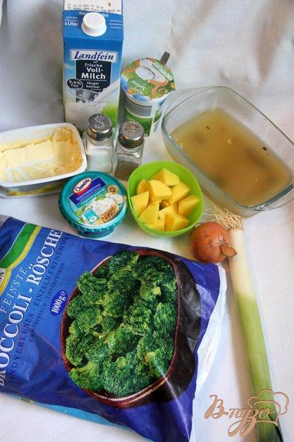 Брокколи крем-суп с творожной горгонзолой