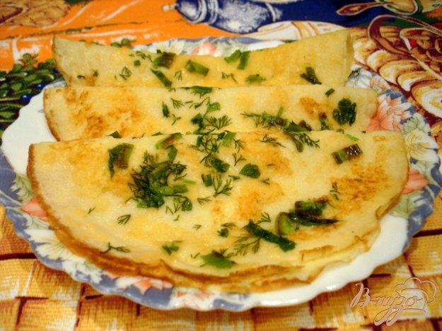 Рецепт Блинчики с сырным припёком