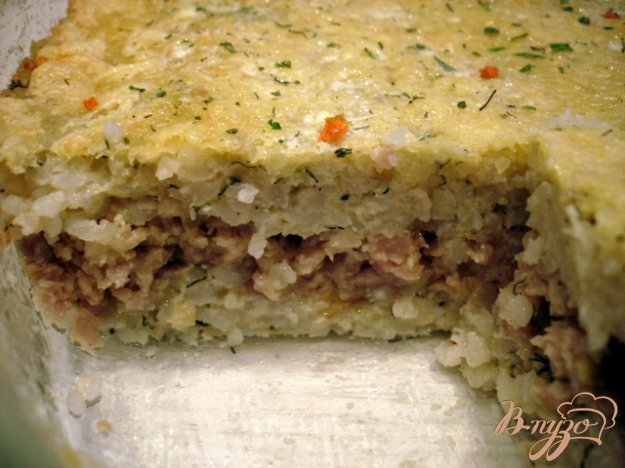 Рецепт Рисовая запеканка с фаршем