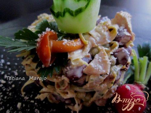 Салат из яичных блинчиков