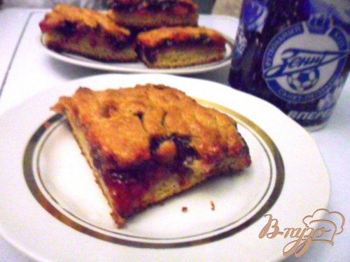 Тёртый пирог с вареньем