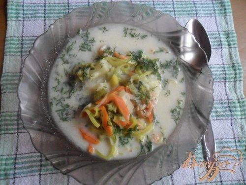 """Сырный суп с креветками """"Послепраздничный"""""""