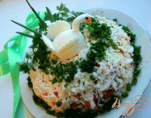 Салат с кальмарами « Лебединое озеро»