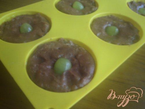 Шоколадные кексы с виноградом