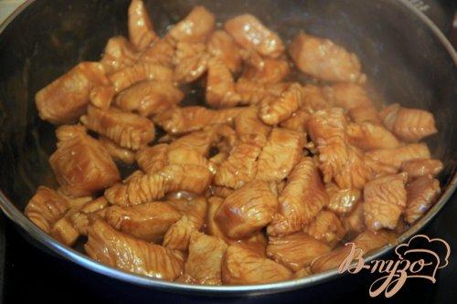 Индейка-терияки со спаржевой фасолью