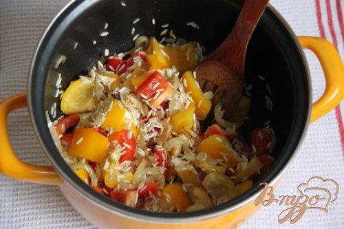 Гювеч из риса и овощей