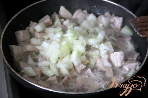 Пенне со свининой в кремовом соусе