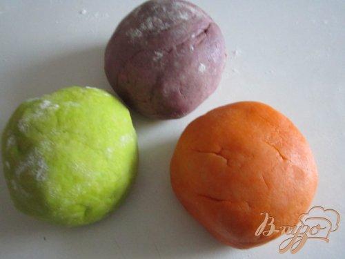 """Миндальное печенье """"Цветные улитки"""""""