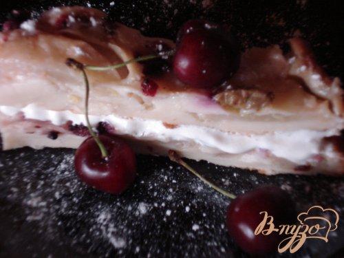Грушево-ягодный пирог без сахара