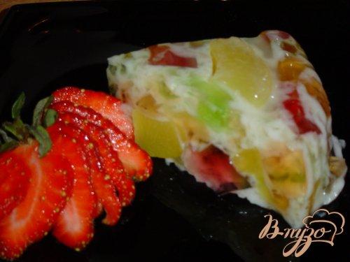 Желейно-персиковый тортик