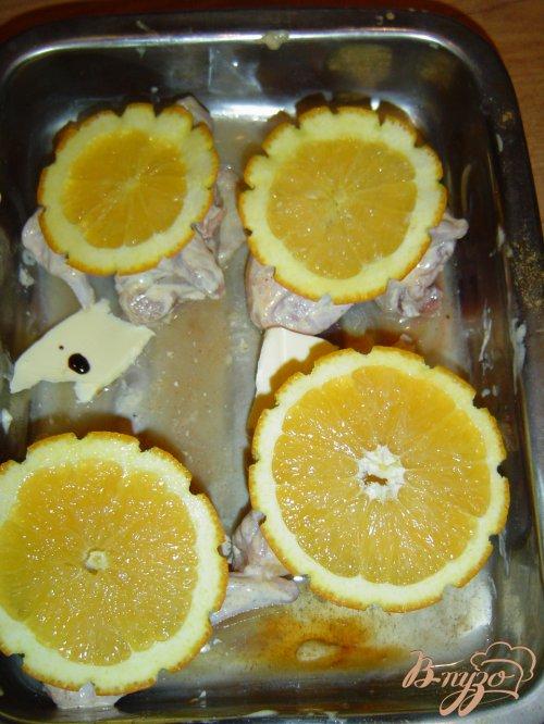 Куриные крылышки под апельсином