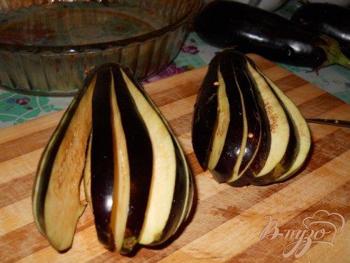 Баклажаны запеченные с ветчиной и сыром