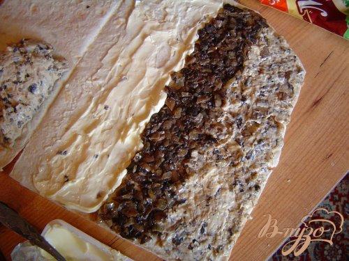 Сырно-грибной рулетик