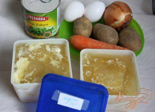 Детский  суп с зелёным горошком и яйцом