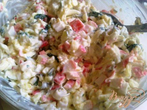 Нежный крабовый салатик.