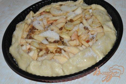 Постный деревенский пирог с яблоками