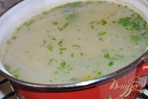 Куриный суп с овсяными хлопьями