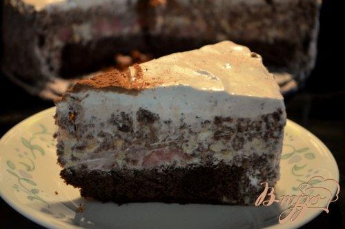 Торт мороженое,шоколадный с маршмэллоу и фундуком