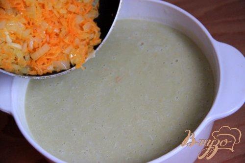 Крем-суп из курицы и зелёного горошка