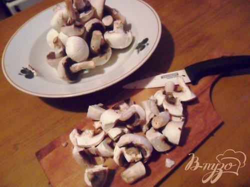 Пенне с грибами под сырным соусом