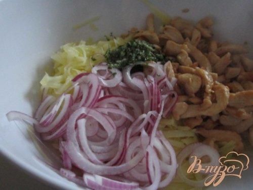 Картофельный салат с курятиной