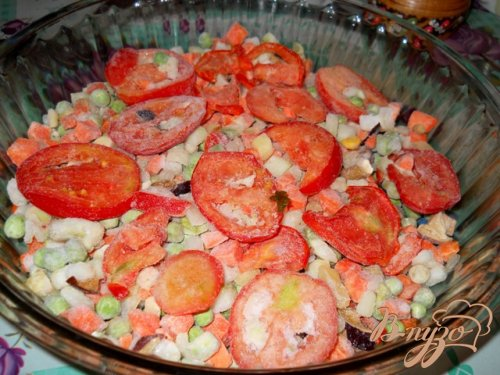 Овощная запеканка с фрикадельками