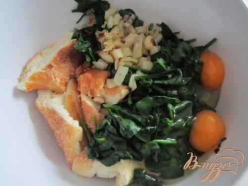 шпинатные клецки с сырным соусом