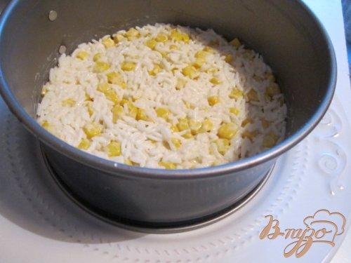 Салат рисовый с крабами