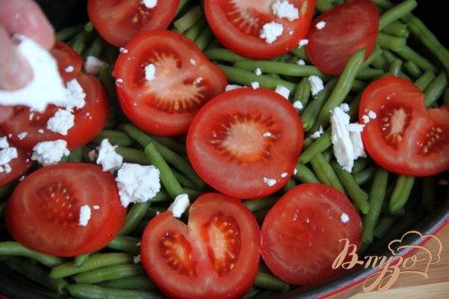 Мясные шарики с овощами и брынзой по-гречески