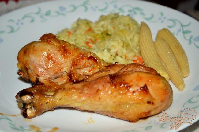 Фото приготовление рецепта: Курица в пряно-персиковой глазури шаг №4