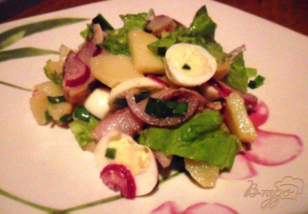 Рецепт Салат из сельди, картофеля с перепелиными яйцами
