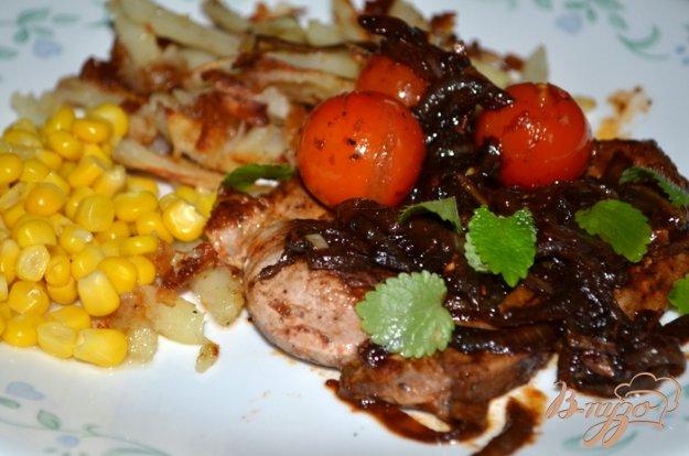 фото рецепта: Свинина с черри томатами