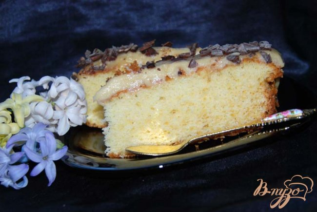 Фото приготовление рецепта: Итальянский кекс с французским кремом. шаг №11