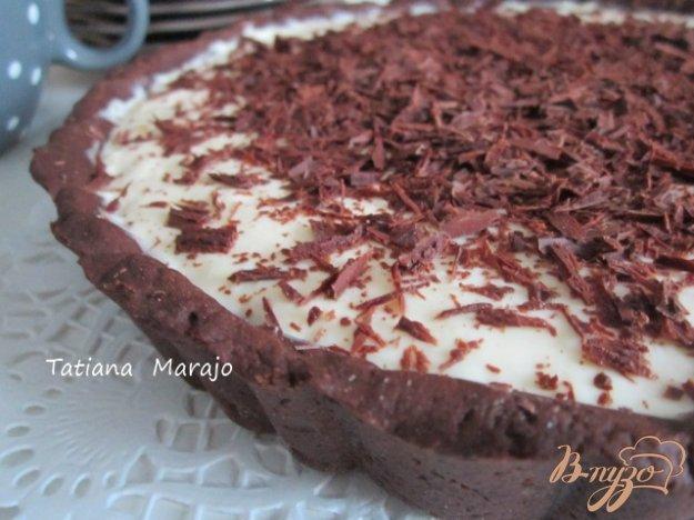 Шоколадний тарт з кремом з маскарпоне. Як приготувати з фото