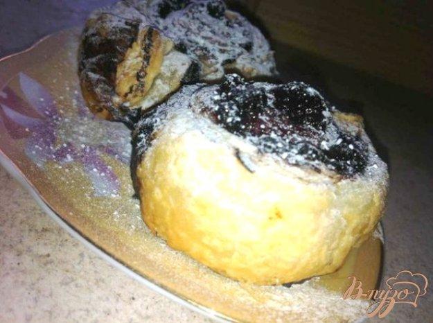 Рецепт Слоеные улиточки с вишневым джемом.
