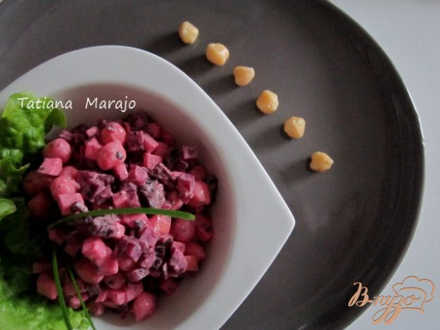 Рецепт Свекольный салат с горохом нут