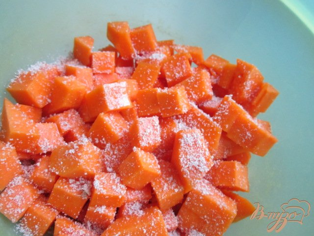 Фото приготовление рецепта: Салат с печеной тыквой шаг №1