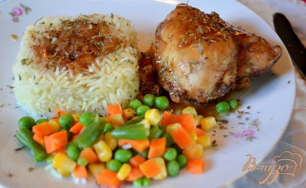фото рецепта: Курица с медово-пивным соусе