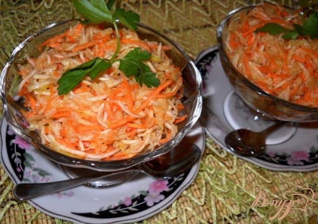 Рецепт Салат из корня сельдерея с морковью и яблоком