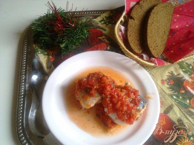 Рецепт Скумбрия запеченная в томатном маринаде.