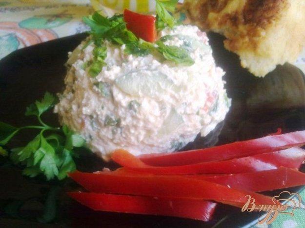 Рецепт Закуска из творога с овощами.