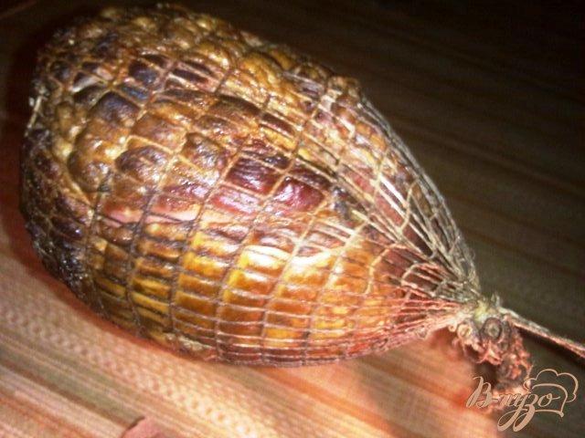 Фото приготовление рецепта: Копченое филе индюка шаг №5
