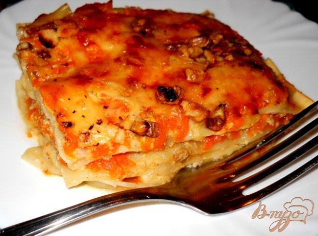 Рецепт Лазанья с тыквой, сыром и грецкими орехами