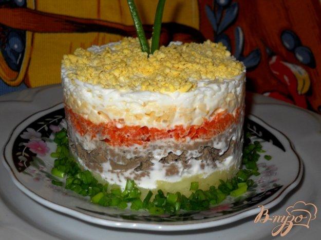 Салаты рецепты с фото с печёнкой